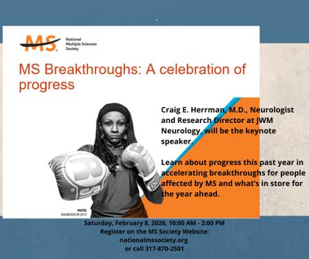Flyer for MS Breakthroughs: A Celebration of Progress