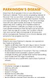 Parkinson's Disease brochure